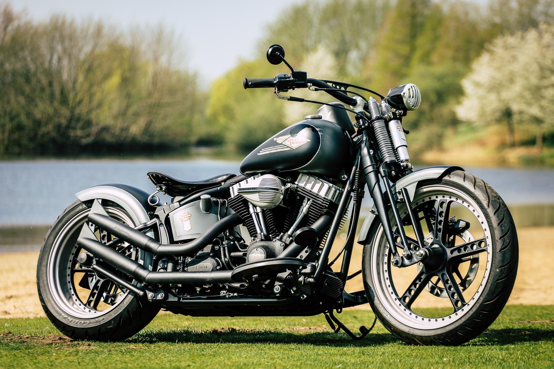 Thunderbike Oldstyle H D Softail Slim Fls Custom Umbau