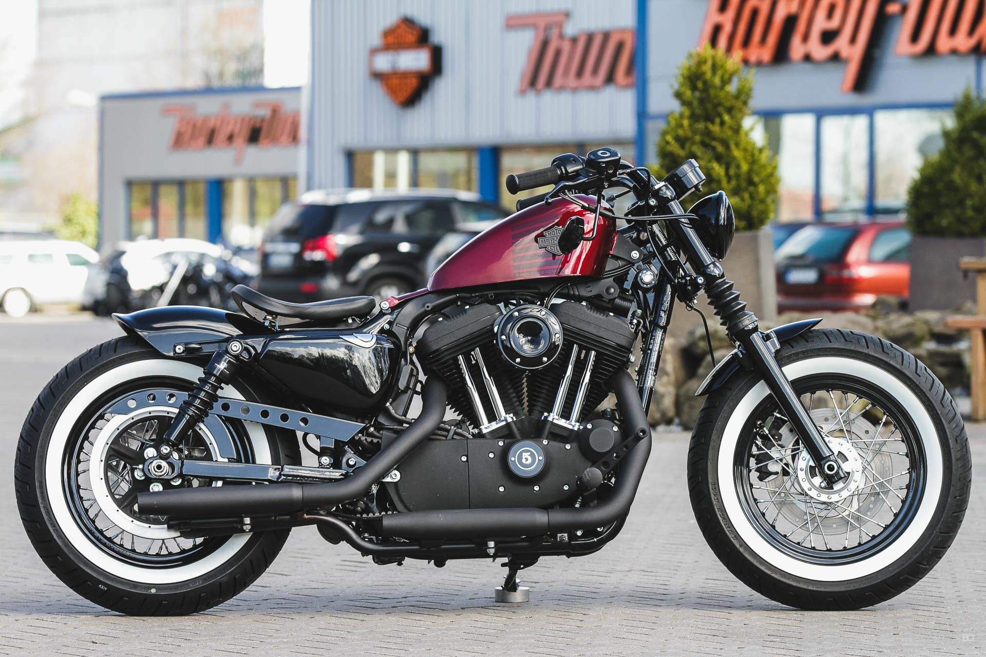 thunderbike redhead h d forty eight xl1200x sportster umbau. Black Bedroom Furniture Sets. Home Design Ideas