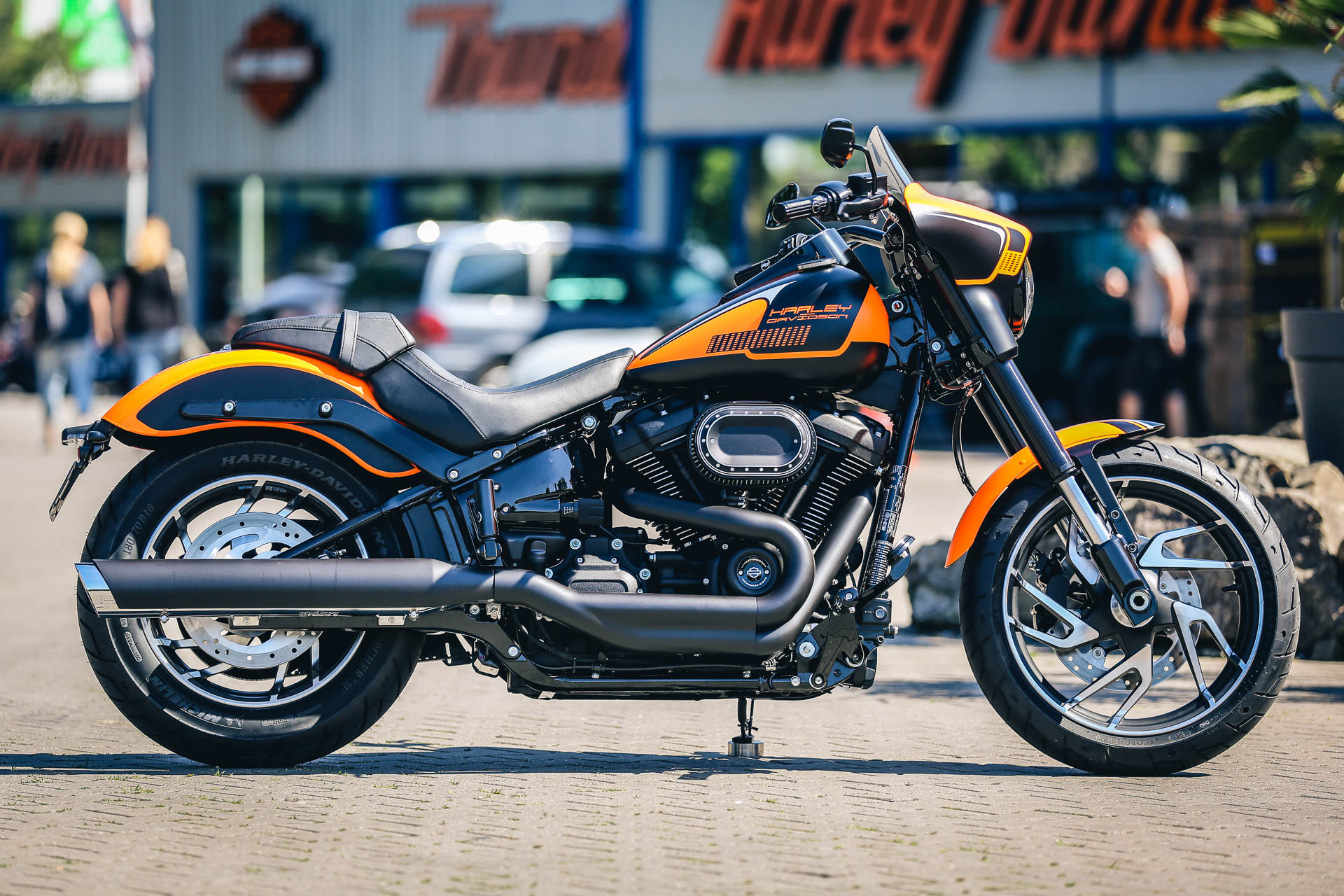 Thunderbike Sportglide on Custom Harley Softail Frames