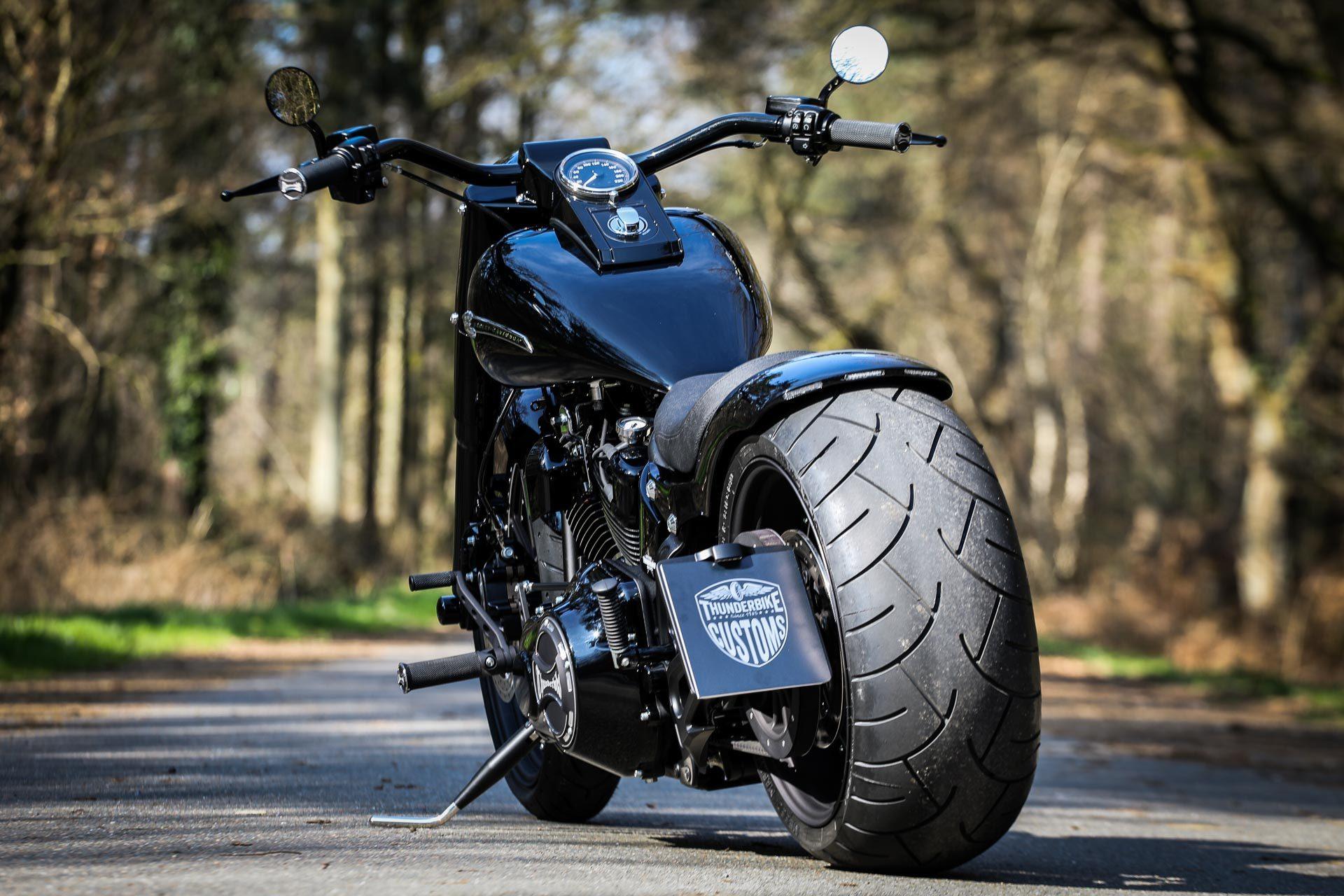 Thunderbike Fatblack • H D Fat Boy FLSTF Softail Custom Umbau